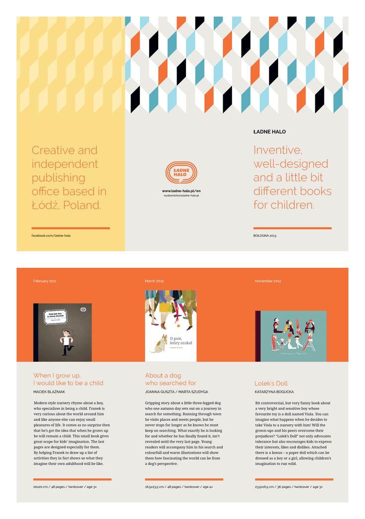 Broszurka na Targi Książki Dziecięcej w Bolonii 2013