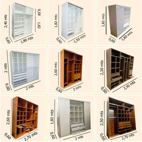 modelos placard - closet design ideas closet design ideas closet measurement                                                                                                                                                                                 Más