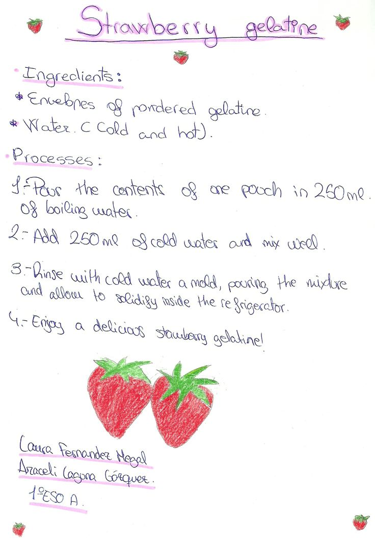 Two strawberries for two girls: Laura Fernández and Araceli Laguna. Middle School, 2013.