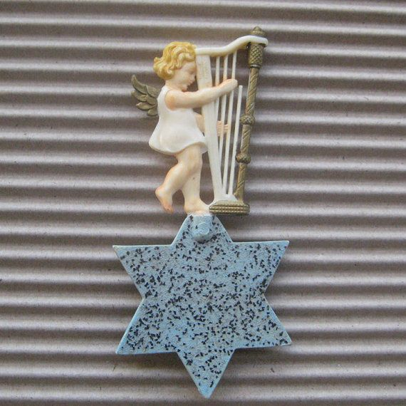 Christmas Ornament Angels From Office Supplies: 17 Best Images About Vintage Christmas Decorations On