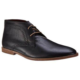 Black Leather Casual Chukka Boots - Urban Ranger