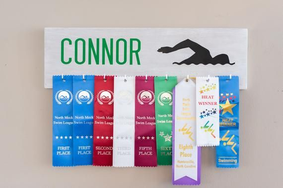 Pin By Ashley Shaffer On For My Little Man Swim Ribbons Award Display Ribbon Holders