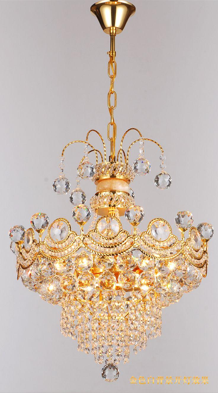 Moderne Luxus K9 Kristall Gold Kronleuchter Glanz De Decke Lampe Zu Hause Dekorative Leuchte Anhnger