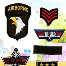 Envío gratis men boy ropa marca militar parche con logo 5 unids lindo hierro en remiendos para ropa moda tela DIY tela(China (Mainland))
