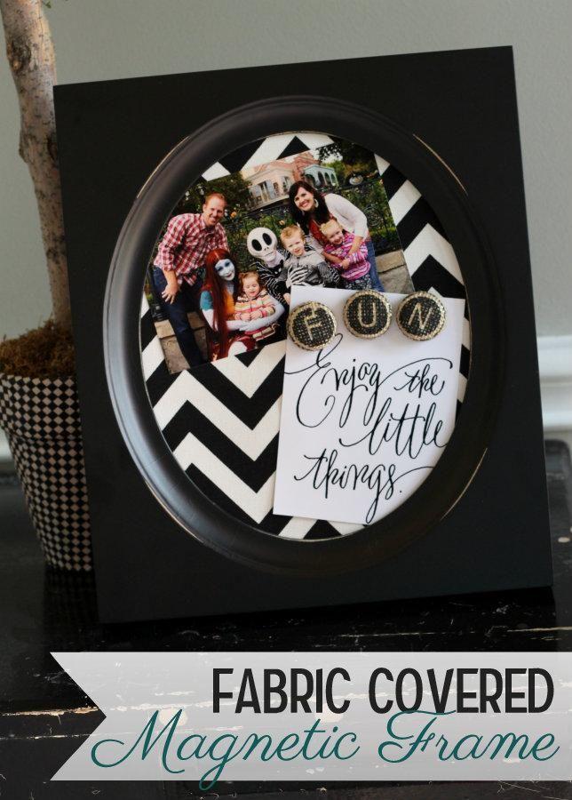 Fabric Covered Magnet Frames on { lilluna.com }