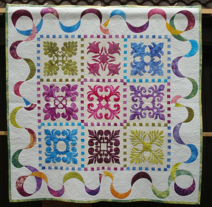 Ideas For Quilting Borders : 1000+ images about Hawaiian Quilts on Pinterest Quilt designs, Bird quilt and Islands of hawaii