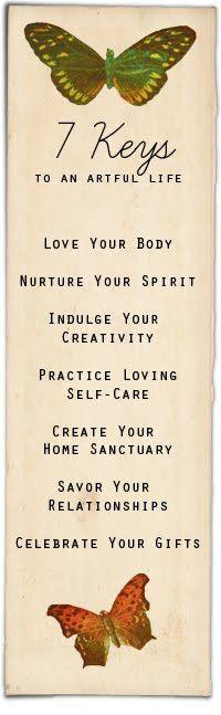 7 Keys to an Artful Life.