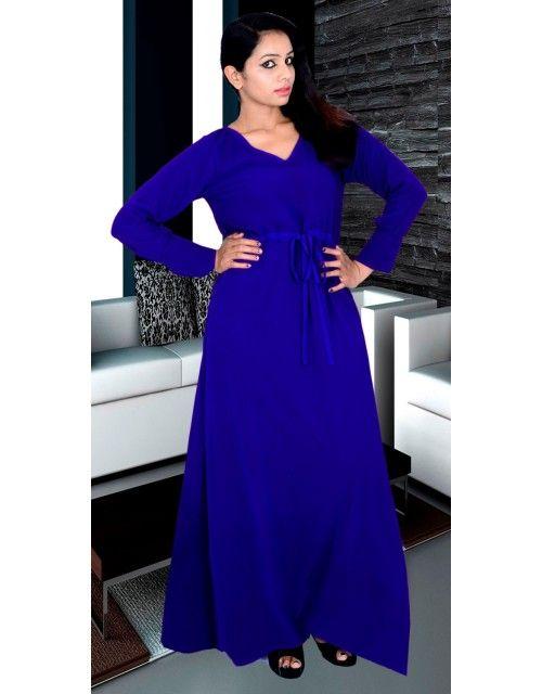 Plain Kaftan - Blue