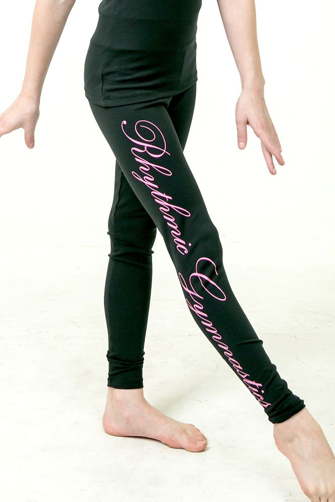 Rhythmic Gym Training & Dance Wear Leggings B - Black - Annie Gymnastics #AnnieGymnastics