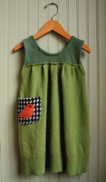 Little Bird Jumper made from Reclaimed Cashmere by rompshop, $52.00