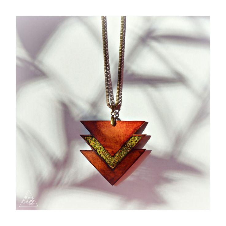 Boho, ethno, mossy pendant by Sen Góry - www.sen-gory.com