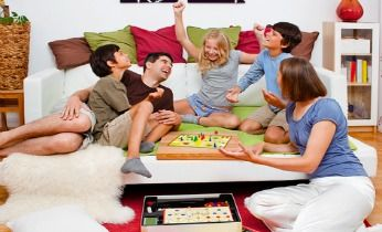 You may not be able to step out in the rains but can enjoy quality time with #family. #boardgames #fun