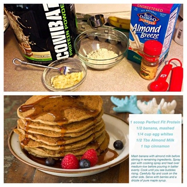 Low carb protein pancakes or waffles if you have a waffle maker! So good and good for you! so easy to make, and perfect for breakfast, pre or post workout, or for a tasty treat at any time! Recipes and directions are in the white box in the picture at the bottom right:) I used muscle pharm combat protein and they came out sooo good! Top it off with Vermont™ low calorie sugar free syrup or #waldenfarm calorie free maple flavored pancake syrup!