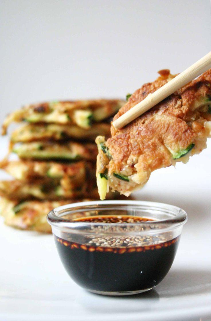 Hartige Koreaanse pannenkoekjes met courgette
