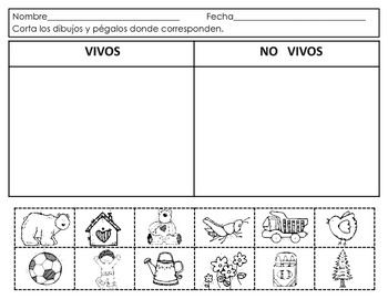 Spanish:Living and NonLiving. Seres vivos y no vivos