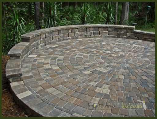 Patio Paver Captivating Patio Paver Layout Patterns On Circular .