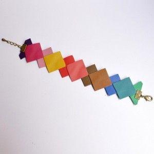 Annelison Shop - Bracelet Géométrique Cuir