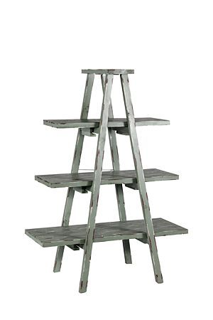Our freestanding ladder shelf is a stylish shelving unit that will work well in any home or office setting.