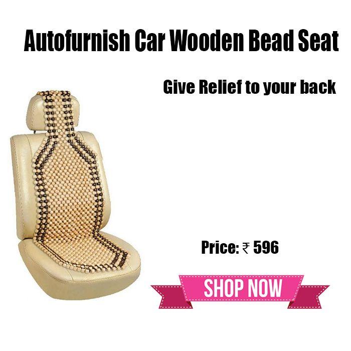 Autofurnish Car Wooden Bead Seat! Give Relief to your Back! http://bit.ly/1NjDe26