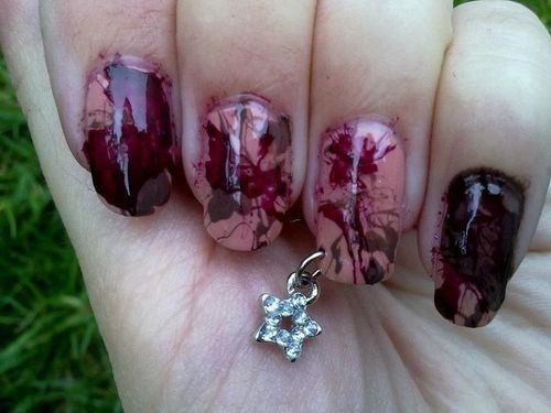 New Trend: Pierced Nails NOT a new trend.. I've been doing this for years!!!!