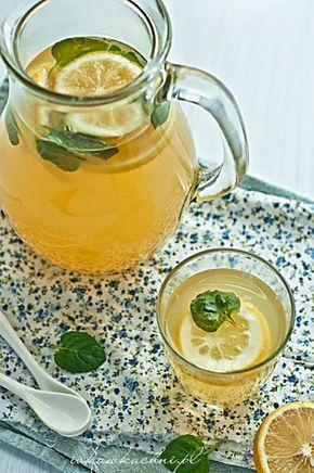Ivka w kuchni - Rozgrzewający napój imbirowo-cytrynowy z miodem i miętą
