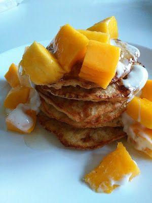 Healthy Food By Phyllis : Ontbijt - bananen - haver - pannenkoekjes - mango ...