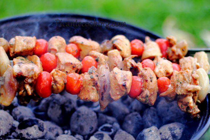 Куриный шашлык в бальзамическом маринаде