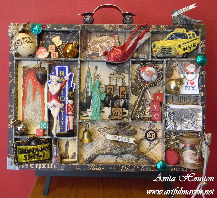 The Artful Maven Haven: An NYC Christmas Configurations Tray.  {This is brilliant!}