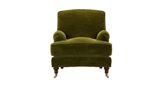 Velvet Olive Green Chair
