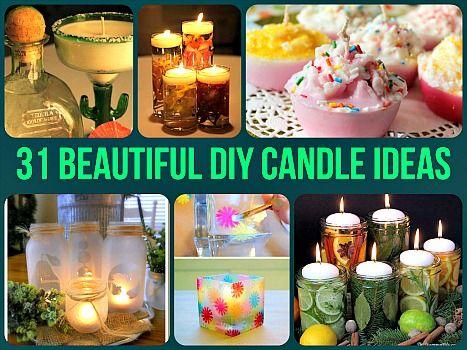 31 Beautiful Diy Candle Ideas Amp Tutorials Diy Home Sweet