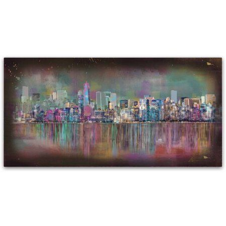 Trademark Fine Art 'New York City' Canvas Art by Ellicia Amando, Size: 10 x 19, Multicolor