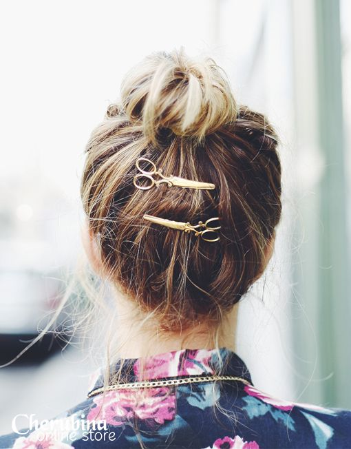 scissor hair pins!