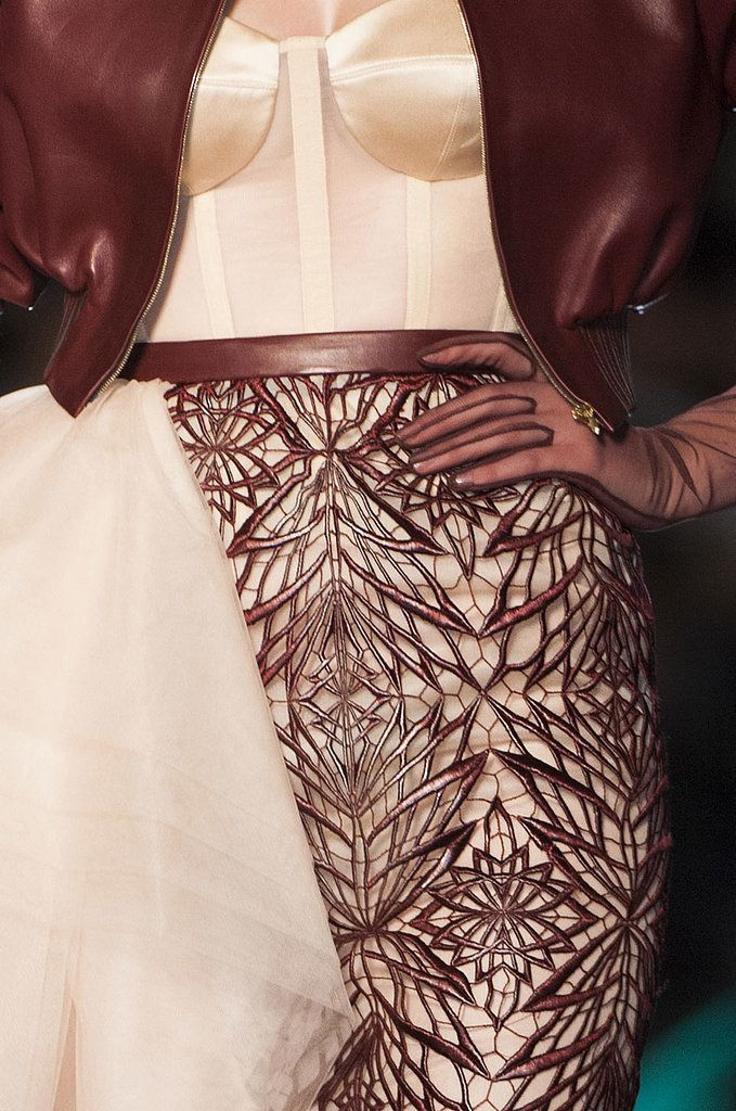 skaodi:  Details from Jean Paul Gaultier Haute Couture Spring 2014.