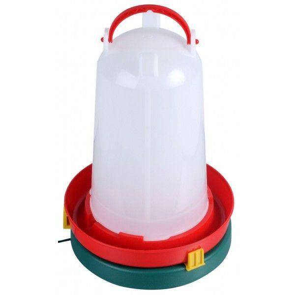 Värmeplatta för vattenautomat till höns. Värmeplatta för att vattnet inte ska frysa på hösten och vintern.