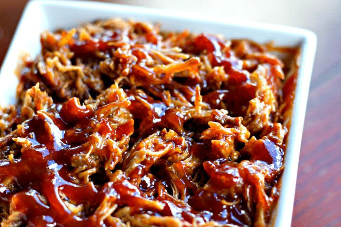 Pulled Pork is perfect at Super Bowl football parties, when you have company or just b/c. Using the Instant Pot for Easy Pulled Pork Recipe is the key!