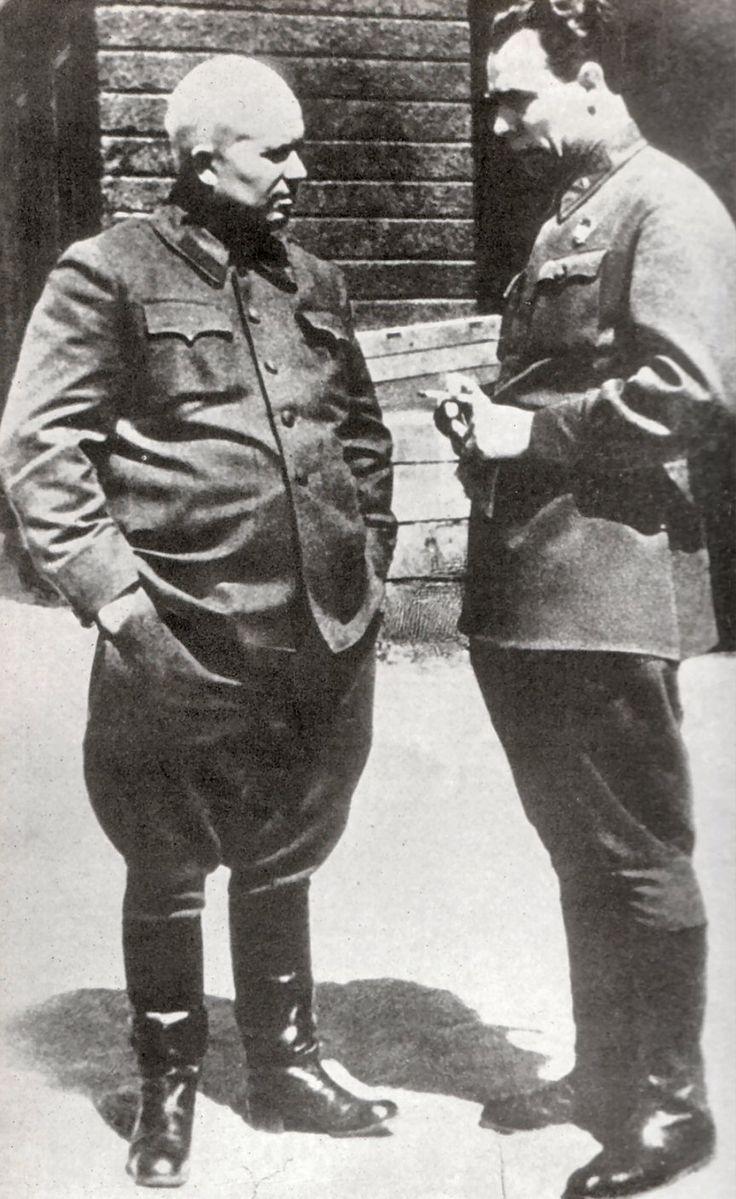 Khrushchev and Brezhnev, future leaders. 1940s