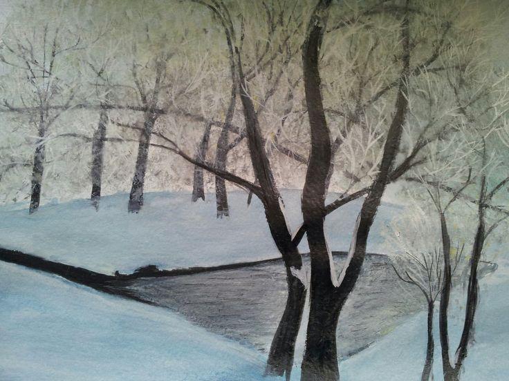 #watercolour #winter