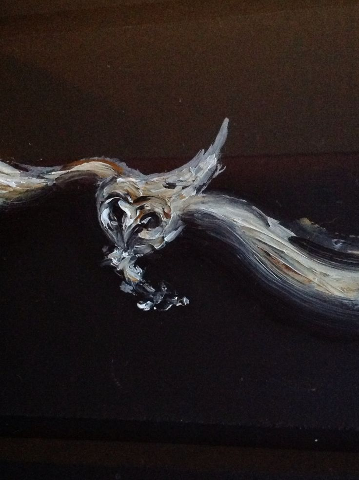 Maggi Hambling Barn Owl Hunting. Original oil on board. Giving by her to our charity auction. Oct 12th www.helpchildreninzambia.org