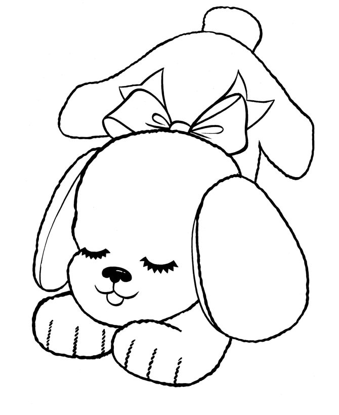Dog Coloring Pages For Kids - Preschool and Kindergarten | things I ...