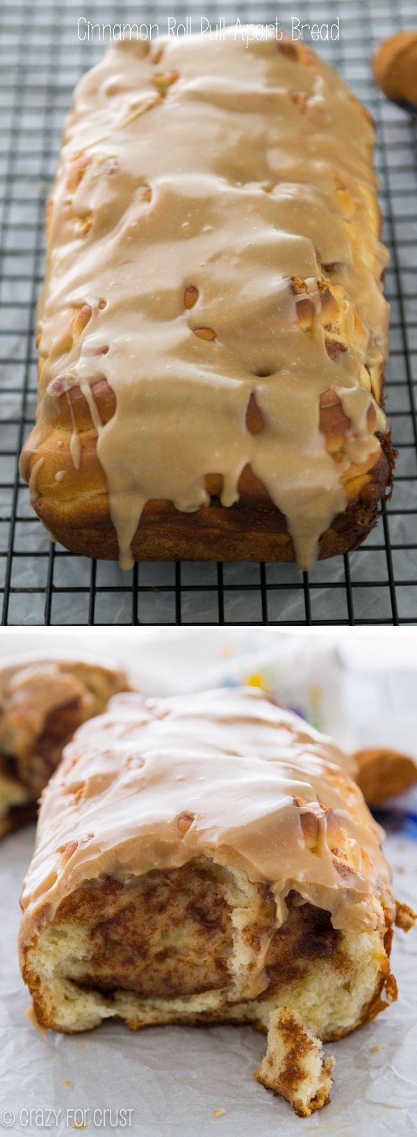 ❤️Cinnamon Roll Pull-Apart Bread - a cinnamon roll in a bread loaf!❤️