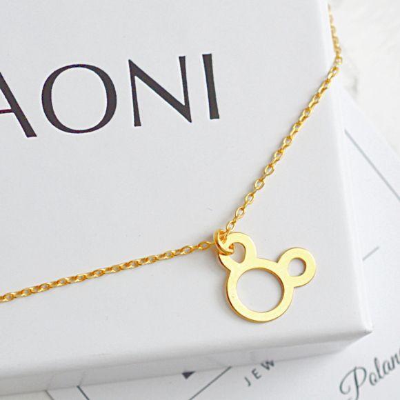 Złota bransoletka z myszką. Zobacz na: https://laoni.pl/zlota-bransoletka-celebrytka-myszka #myszka #złota #bransoletka #celebrytka #biżuteria
