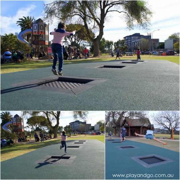 Princess Elizabeth Playground mini tramps