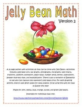 Jelly Bean Math - Version 2 - Great for Easter! by Stephen Wolfe | Teachers Pay Teachers
