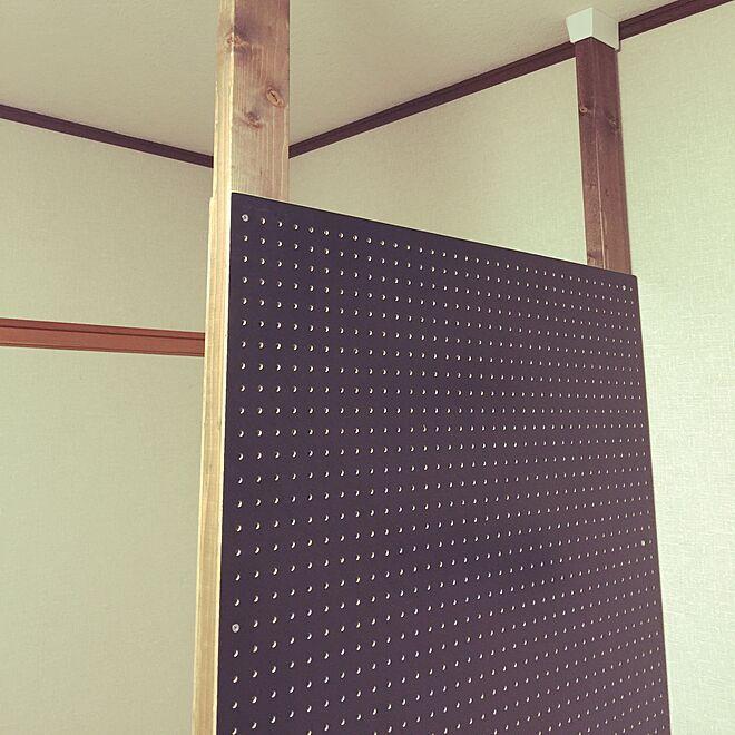 壁 天井 有孔ボード ディアウォールの壁 2 4材 Diyのインテリア実例