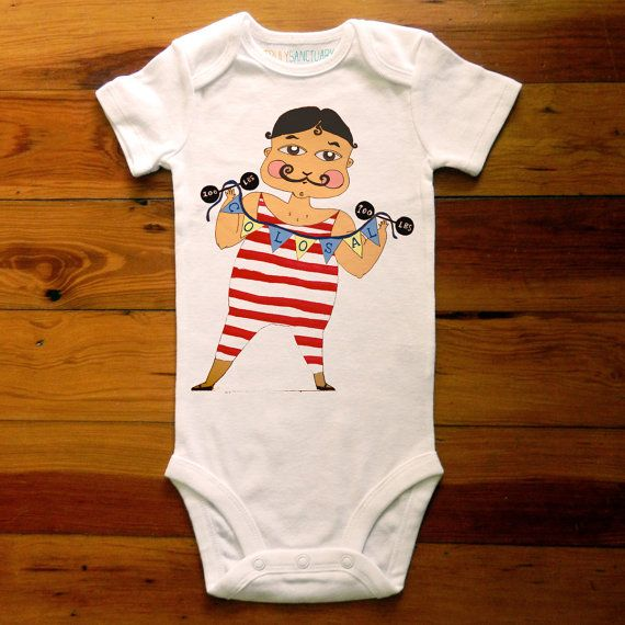 El Colosal the Strongest Man Alive Baby Onesie By TrulySanctuary, Great Baby Shower Gift, First Birthday Gift Or Party Favor. $15.99, via Etsy.