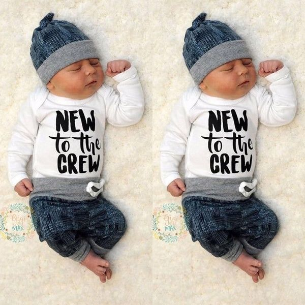 Newborn Toddler Kid Baby Boy Girl Clothes Hooded Jumpsuit Romper Bodysuit Outfit