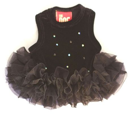 Black Velvet Twinkle Tutu Dog Pet Dress