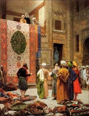 Jean-Leon Gerome - Carpet Merchants  Nothing has changed. Still looks the same...