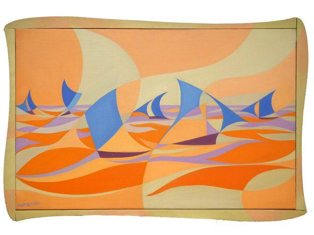 Giacomo Balla   Linee forza di mare Casa Balla [Linee forza di mare rosa] (ca. 1919)   Available for Sale   Artsy
