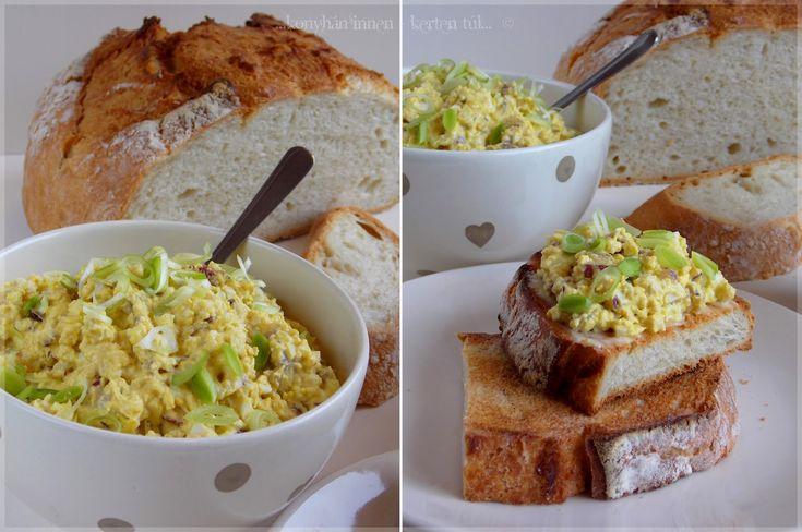 ...konyhán innen - kerten túl...: Lilahagymás tojáskrém
